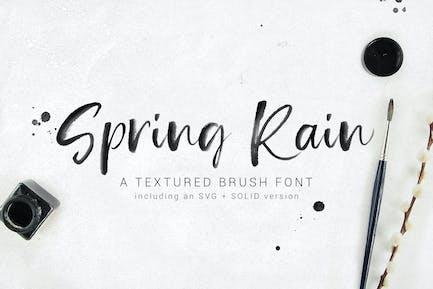 SpringRain SVG watercolor brush font