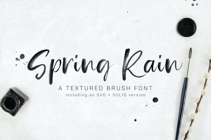 Thumbnail for SpringRain SVG watercolor brush font