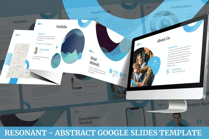 Thumbnail for Resonant - Abstract Google Slides Template