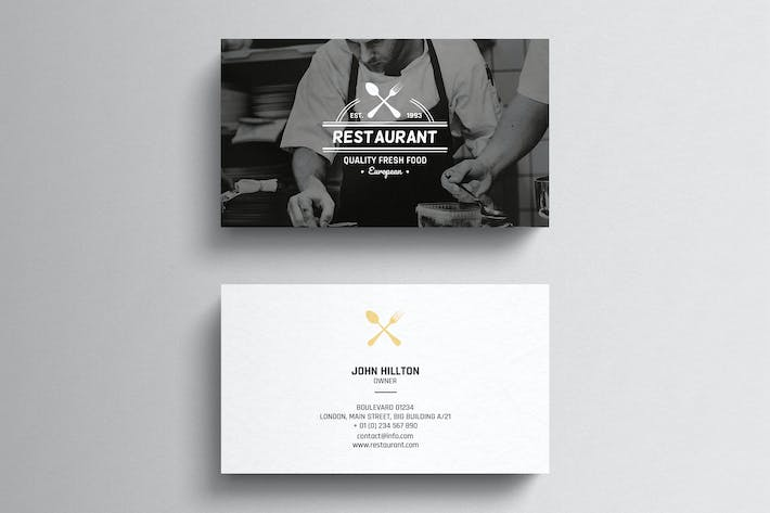 Thumbnail for Restaurant Business Card Template