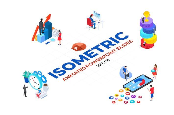 Isometric Animated PowerPoint Templates. Set 02