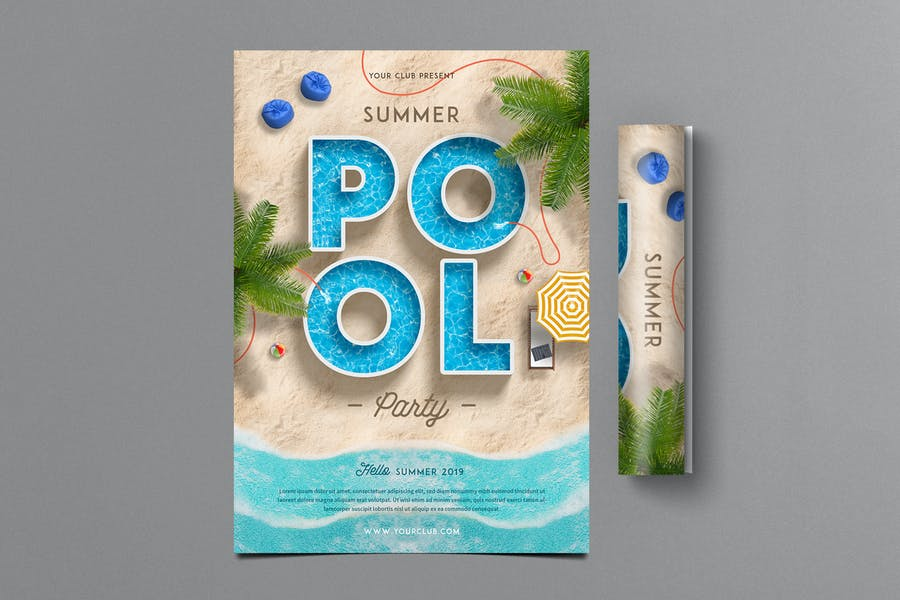 Sommer Pool Party Flyer