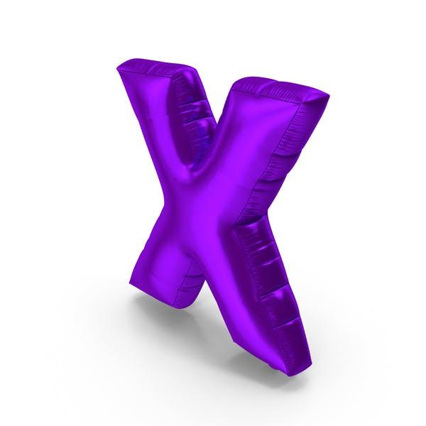 Foil Balloon Letter X