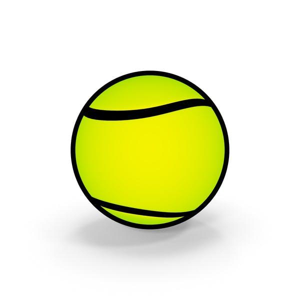 Cartoon Tennis Ball