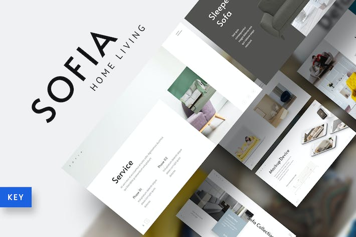 Thumbnail for Sofia - Home Interior Furniture Keynote Template