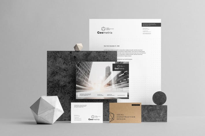 Thumbnail for Geometria Branding Mockup Vol. 1