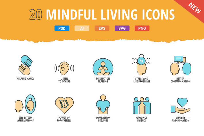 Thumbnail for 20 Mindful Living Icons