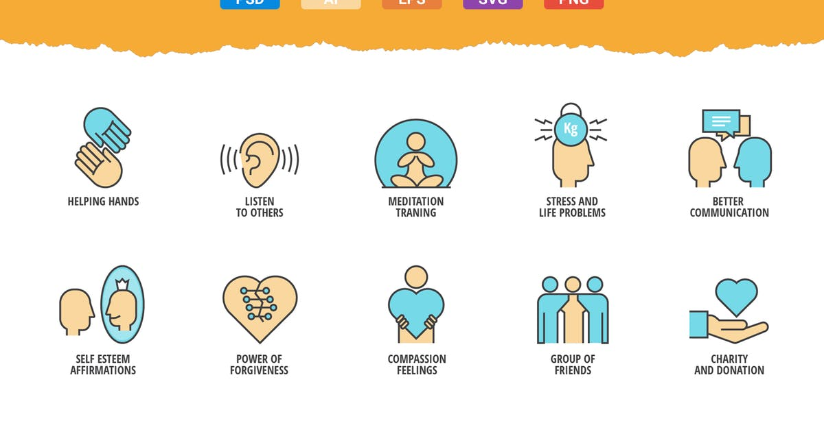 Download 20 Mindful Living Icons by Unknow