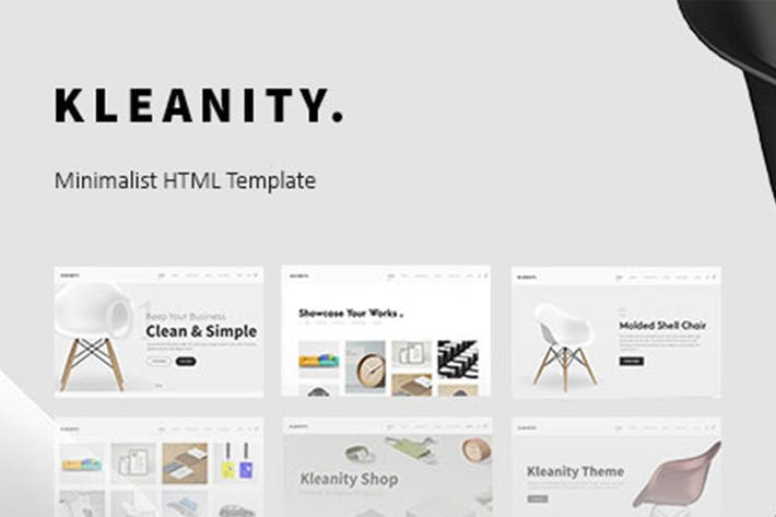 Thumbnail for Kleanity - Minimalist HTML Template / Creative Por