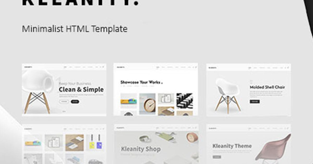 Download Kleanity - Minimalist HTML Template / Creative Por by max-themes