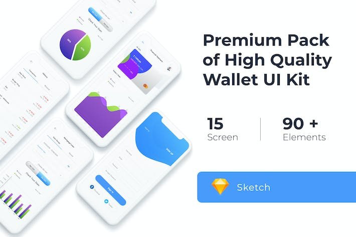 Thumbnail for Wallet UI KIT for Sketch