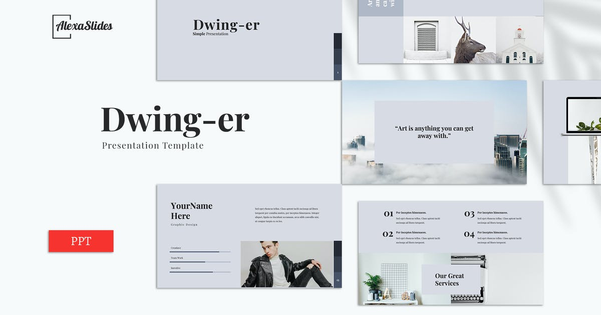 Download Dwinger - Creative Powerpoint Template by alexacrib
