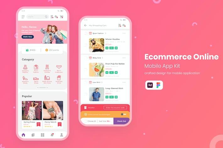 Thumbnail for UI Online Shopping Mobile KIT