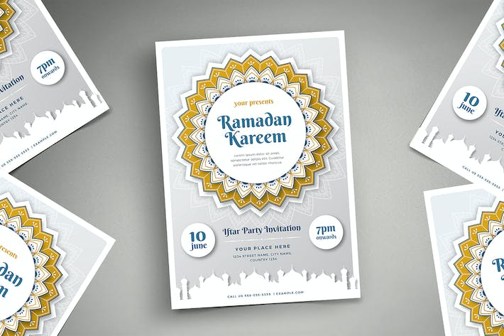 Thumbnail for Ramadan Kareem Iftar Party Flyer 03