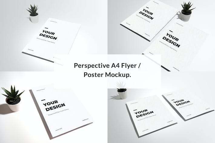 Thumbnail for Perspective A4 Flyer / Poster Mockup