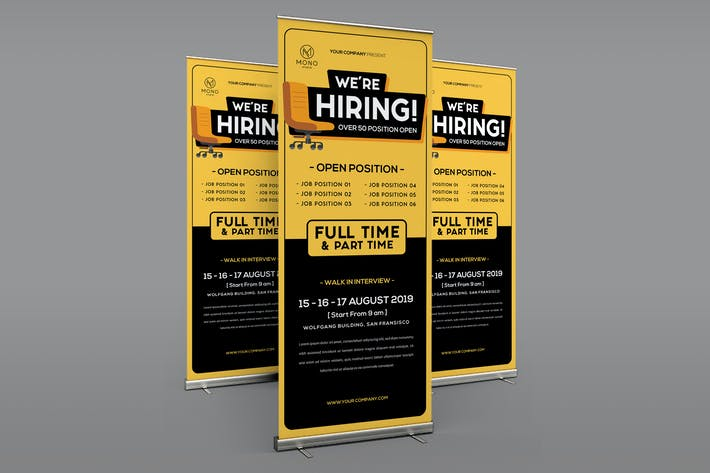 Thumbnail for Job Vacancy Roll Up Banner