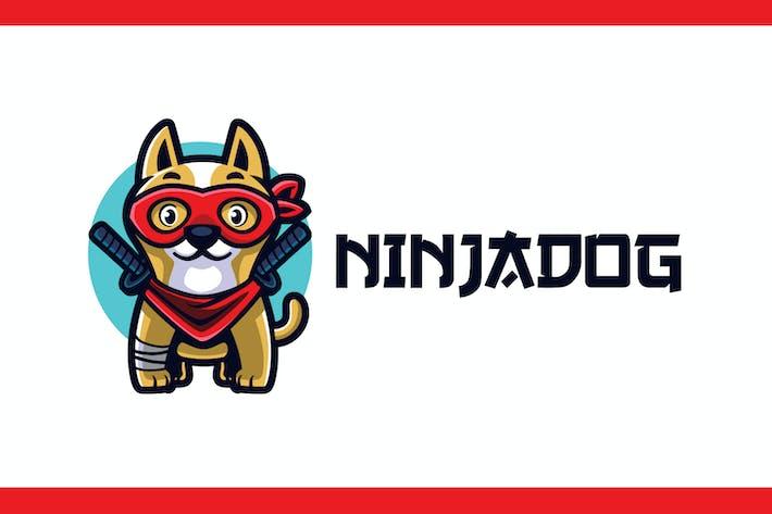 Thumbnail for Cartoon Ninja Dog Mascot Logo