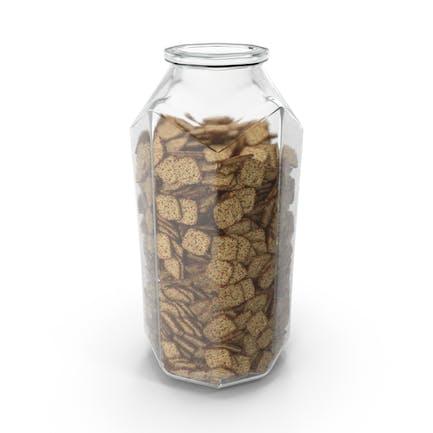 Octagon Jar with Spicy Seasoned Mini Rhombus Crackers
