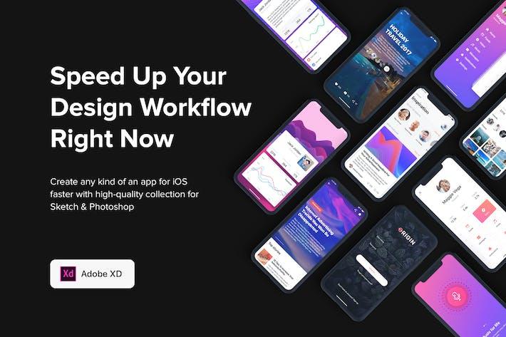 Thumbnail for Origin Mobile UI Kit for ADOBE XD