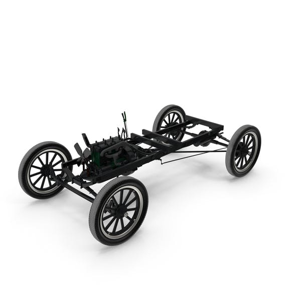 Retro Car Chassis with Engine