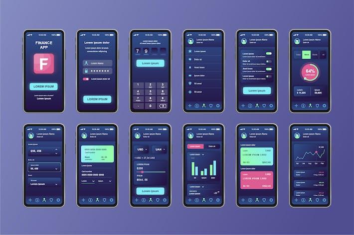 Thumbnail for GUI Layout Finance Unique Mobile App UI Kit
