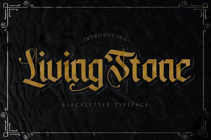 Thumbnail for Livingstone - Blackletter Font