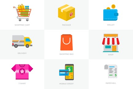 Conjunto de iconos de comercio electrónico