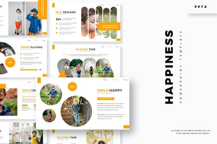 Счастье - Шаблон Powerpoint