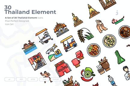 30 Thailand Element Icons