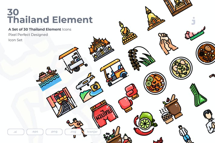Thumbnail for 30 Thailand Element Icons
