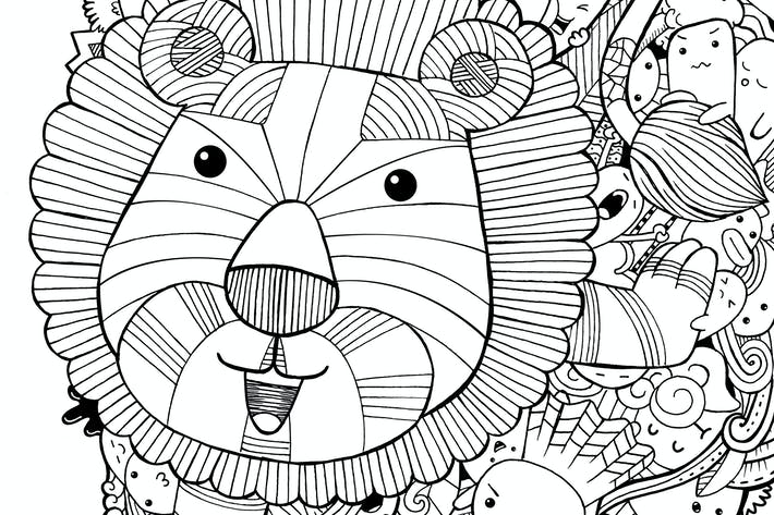 Thumbnail for Lion Doodle