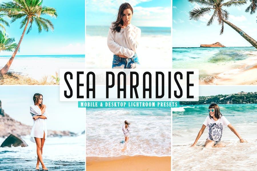 Пресеты Lightroom для мобильных и настольных систем Sea Paradise