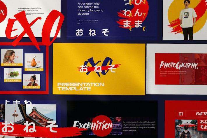 Thumbnail for EXO - japanese Business Creative Google Slide