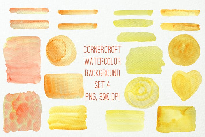 Thumbnail for Watercolor Texture Background Yellow