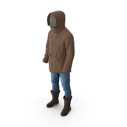Men's Pants Boots Pullover Coat Brown