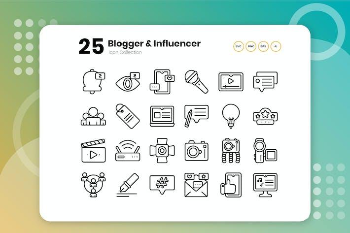 Thumbnail for 25 Blogger & Influencer Gliederungssymbol