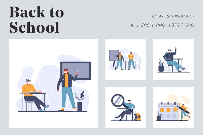 Thumbnail for Back to School Illustration for Empty state