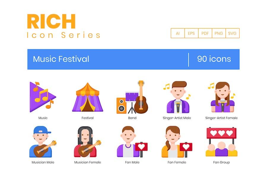 90 Musikfestival-Ikonen - Rich Series