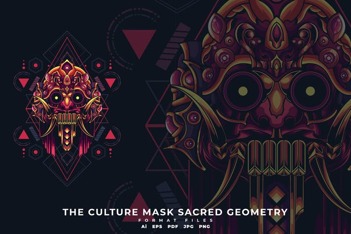 Thumbnail for The Culture mask sacred geometry