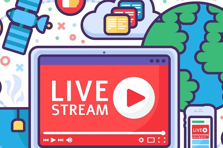 Thumbnail for Live Stream Concept Illustration