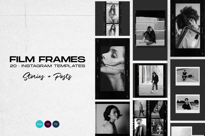 Thumbnail for Instagram Stories Template - Film Frames
