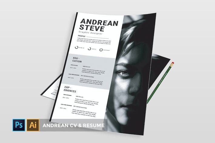 Cover Image For Andrean Resume | CV & Resume