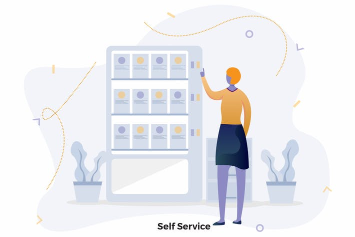 Thumbnail for Self Service Illustrations CRM