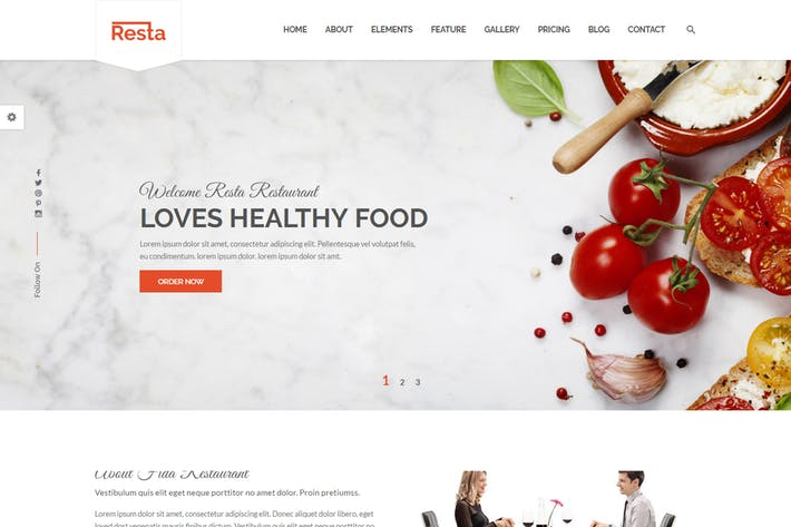 Thumbnail for Resta - Restaurant HTML Template
