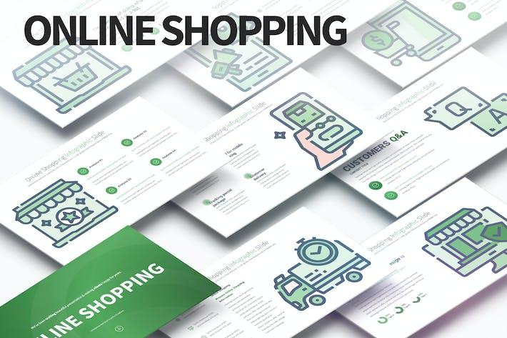 Thumbnail for Online Shopping - PowerPoint Infographics Slides