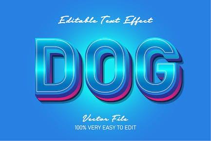Blue gradient fresh text style effect