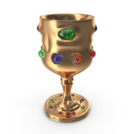 Goblet with Mixed Gems