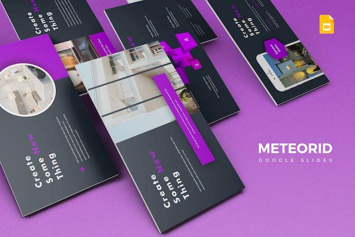 Cover Image For Meteorid - Google Slide Template