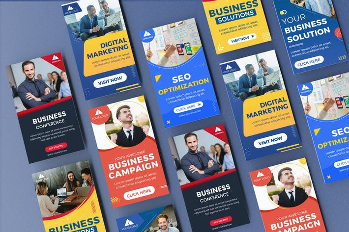 Thumbnail for Seo Optimization Instagram Stories Banner Template