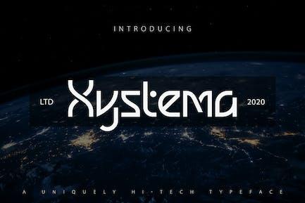 Xystema   Tipo de letra única de alta tecnología